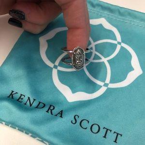 ON HOLD Kendra Scott Elyse ring in Platinum Drusy